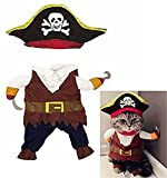Vikenner Pet Dog Cat Pirate Sailor Halloween Christmas Fancy Dress Costume Outfit Clothing - M