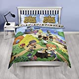 Animal Crossing Official Double Duvet Cover | Reversible Two Sided Beach Design | Polycotton Fun...