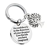 Graduation Gifts Compass Key Chain Go Confidently in The Direction of Your Dreams Live The Life You...
