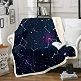 Galaxy Fleece Blankets Constellation Theme Throw Blanket for Kids Boys Girls Outer Space Starry Sky...