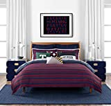 Tommy Hilfiger Comforter Set, Cotton, Red/Blue, Twin