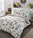 Reversible Nautical Lighthouse Super King Size Duvet Cover and Pillowcase Set