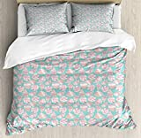 SUPERQIAO Shells Duvet Cover Set, Design Seashells Illustration with Nautical Souvenirs, Decorative...