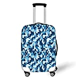 Travel Luggage Cover Suitcase Protector,Camouflage,Military Infantry Marine Troops Costume Pattern...