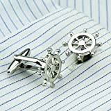 High Quality Copper Anchor Rudder Cufflinks Cuff Nails Male French Button