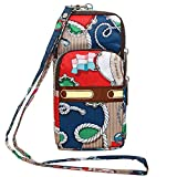 Wocharm Womens Mini 3 Layers Crossbody Shoulder Messenger Handbag Wristlet Purse (Creative Anchor...