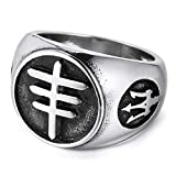 MENDINO Men's Vintage Stainless Steel Ring, Jewelry Anchor Chain Snakeskin with a Velvet Bag...