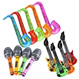 Yojoloin Jumbo 12PCS Inflatable Guitar Saxophone Microphone Balloons Fun Musical Instruments...