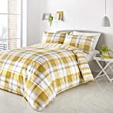 Fusion - Balmoral - Easy Care Duvet Cover Set - Single Bed Size in Ochre