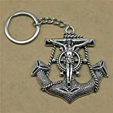 YCEOT Keychains Anchors Wedding Favors And Gifts For Women 63X60Mm Pendant Silver Plated