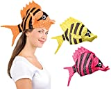 Adults Tropical Fish Hat Sealife Animal Mens Ladies Costume Accessory
