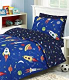 Divine Textiles - 100% Cotton Kids Childrens Bedding Set Reversible Duvet Cover With Pillowcases and...