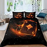 Poker Duvet Cover Gaming Bedding Set Galaxy Playing Card Game Bedding & Linen for Kids Adults Girls...