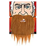 Adult Beard Fancy Dress Party Costume Accessory Brown Facial Hair Pirate Wizard
