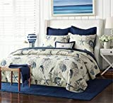 Reversible Printed Quilt Set 3 Piece Full 100% Cotton Nautical Style Bedding Sets Lightweight