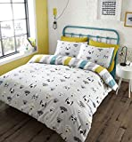 Catherine Lansfield Cool Dogs Easy Care Single Duvet Set Grey