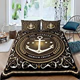Zooseso® 3d Luxury Bedding Sets ( Super King size 260 x 230 cm ) Abstract marine nautical boho...