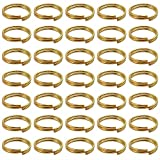 BronaGrand 200 Pieces 10mm Small Gold Key Chain Rings Split Ring Key Chains for Keys Organization