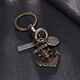 DONG 3Pcs Guitar Butterfly Pendant Suspension Leather Keychain Key Chain Charms For Keys Car Keys...