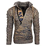 Boys Men's Autumn Winter Warm Casual Sweater Hooded Pullover Sweatshirt Long Sleeve Knitted Top...