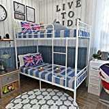 Panana 2 x 3FT Single Metal Bunk Bed 2 Persons Bed Frame Children Twins Bedroom Furniture (White...