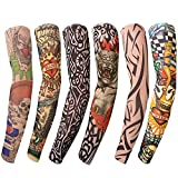 Benbilry 6pcs Art Arm Fake Tattoo Sleeves Cover For Unisex Party Cool Man Woman Fashion Tattoos &...