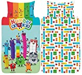 Numberblocks Single Duvet Cover - Official Reversible Bedding Set - Polycotton