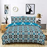 Todd Linens 2 Pcs Knitted Pattern y Reversible Duvet Cover Set with 1 Pillowcase - Bedroom Decor for...