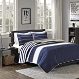 Comfort Spaces Quilt Coverlet Bedspread Ultra Soft Microfiber Pattern Hypoallergenic Bedding Set,...