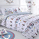 Nautical Reversible Duvet Cover Quilt Cover Set - Single / Double Bed Sizes (King)