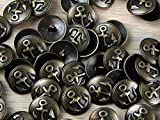Impex Round Metal Anchor Buttons Bronze - per button