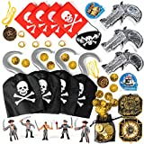 THE TWIDDLERS - 80 Pc Pirate Fancy Dress Costume, Accessories & Toy Play Set