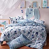 Sleepdown Mermaid Queen Reversible Qulit Duvet Cover Set Easy Care Anti-Allergic Soft & Smooth with...