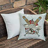 Bedding Soft Decorative Square Pillowcases Nautical Decor,Sailing Collection Yacht Club Bell...