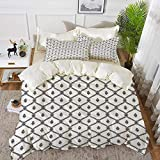 bedding - Duvet Cover Set ,Geometric,Symmetrical Marine Themed Abstract Image Sea Rope and Nautical...