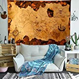 Nautical Map Tapestry Wall Hanging-Bohemian Room Decor-Indian Cotton Throw Hippie Tapestries -Boho...
