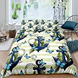 Loussiesd Anchor Decor Duvet Cover Nautical Comforter Cover Ocean Themed Bedding Set For Kids...