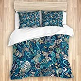 Ttrsudddsyy Duvet Cover Sets Bed Sheets,Abstract Nautical Elements Compass Helm,3 Piece Bedding Set...