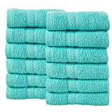 Todd Linens 12-Piece Bale Face Towel Gift Set – 500 GSM 100% Double Looped Cotton Soft & Absorbent...