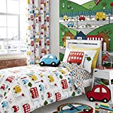 Catherine Lansfield Transport Easy Care Single Duvet Set Bright