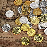 Hicarer Metal Pirate Coins Spanish Doubloon Replicas Pirate Treasure Coin Toys for Party Favor...