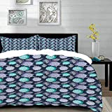 bedding - Duvet Cover Set ,Nautical,Ocean Theme Seashells Scallop Summer Marine Coastal...