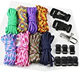 UOOOM 18 pcs Paracord Bracelet kit with Buckles Parachute Cord Outdoor Survival Rope Set DIY Manual...