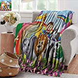 Xaviera Doherty Swaddle Blanket Nursery,Animals at The Hilltop Colorful | Home, Couch, Outdoor,...