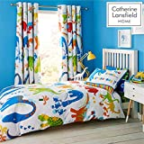 Catherine Lansfield Dino-Saw Easy Care Single Duvet Set Bright