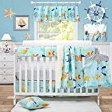 Brandream Nautical Bedding for Baby Boys Crib Bedding Sets Anchor Whale Printed Ocean Baby Nursery...