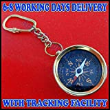 Samara Nautical Brass Compass Keychain Marine Nautical Key Ring Bulk Wholesale Lot of 50 Pcs A