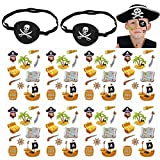 Toyvian Pirate Eye Patch Skull Crossbone Eye Patch Eye Mask Pirate Temporary Tattoos Stickers for...