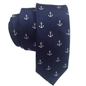 Blue Tie with withe Anchors