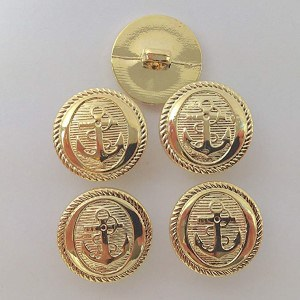 Gold Metal Nautical Buttons
